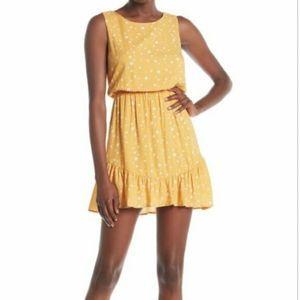 Everly Bow Back Dress Star Print Ruffle Trim Mini